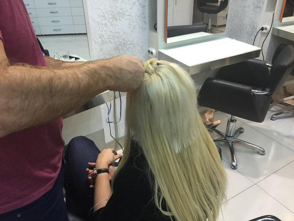 görünmez saç kaynak uygulama